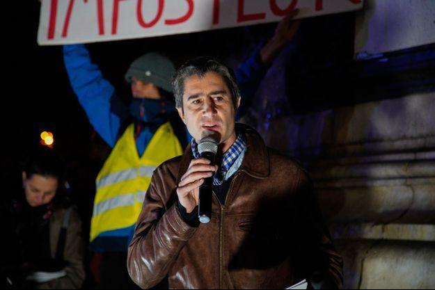 François Ruffin, ici place de la République fin novembre.