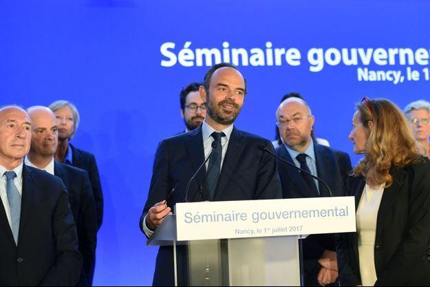 Edouard Philippe lors du séminaire gouvernemental à Nancy.