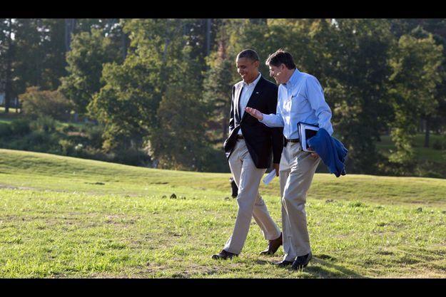Barack Obama et Jack Lew.