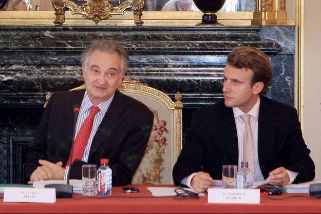 7 septembre 2007 : première réunion de la commission pour la libération de la croissance française au Sénat. Emmanuel Macron a été nommé rapporteur général adjoint par le président Jacques Attali.