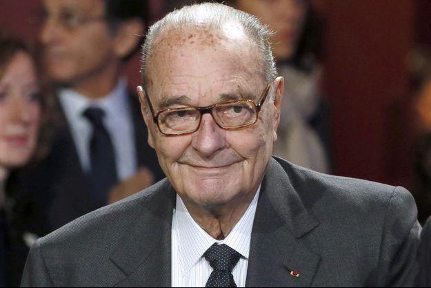 Jacques Chirac photographié le 21 novembre 2014, jour de sa dernière apparition publique.