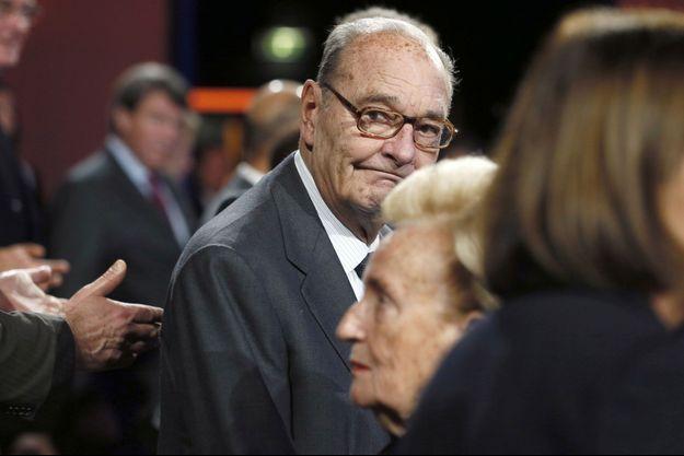 Jacques Chirac le 21 novembre 2014, lors de sa dernière apparition à une cérémonie officielle.