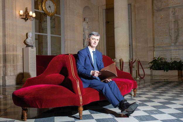 Jacques Maire, dans la salle des Quatre Colonnes, à l'Assemblée, le 17 décembre 2019.