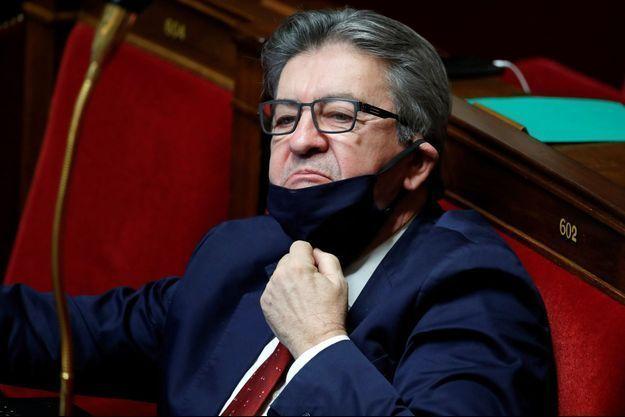 Jean-Luc Mélenchon le 12 janvier à l'Assemblée nationale.