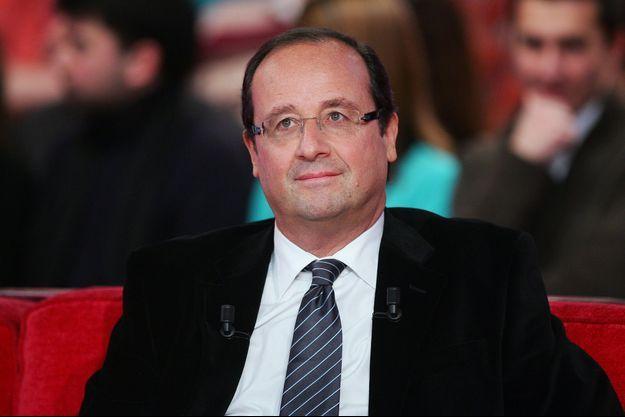 François Hollande, invité de «Vivement Dimanche», le 20 janvier 2010.