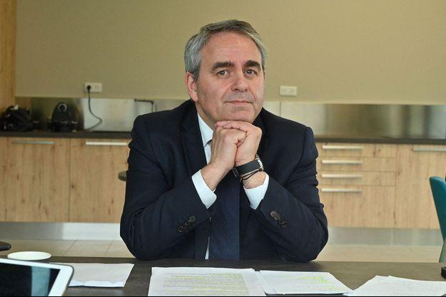 Xavier Bertrand, en mars dernier à Saint-Quentin.