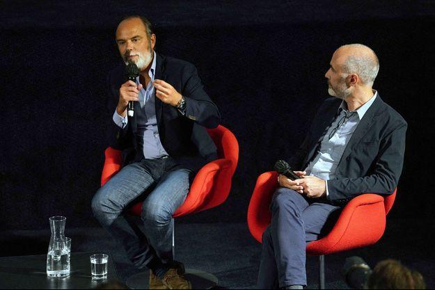 Edouard Philippe et Gilles Boyer mardi à Lille lors du Festival Séries mania .