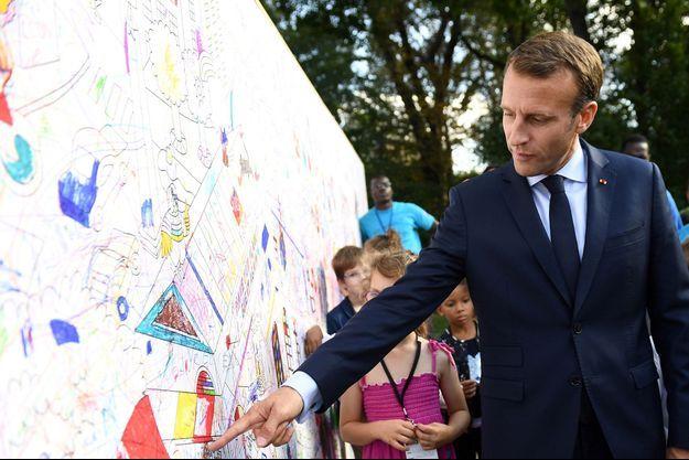 Emmanuel Macron à l'Elysée lors des journées du patrimoine.