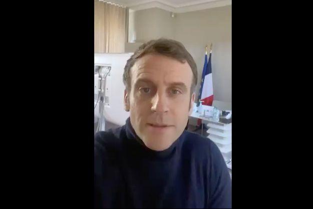 Emmanuel Macron s'est adressé aux Français via une courte vidéo de 3 minutes, évoquant son état de santé.