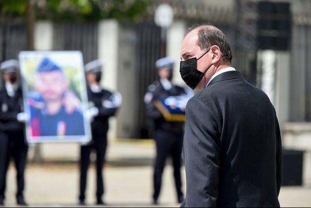 Jean Castex lors de l'hommage à Eric Masson, le 11 mai à Avignon.