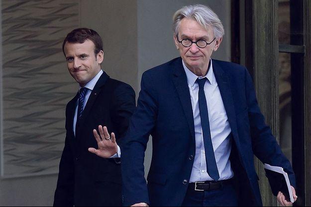 Avec Emmanuel Macron, lors d'une réunion à l'Élysée en octobre 2017.