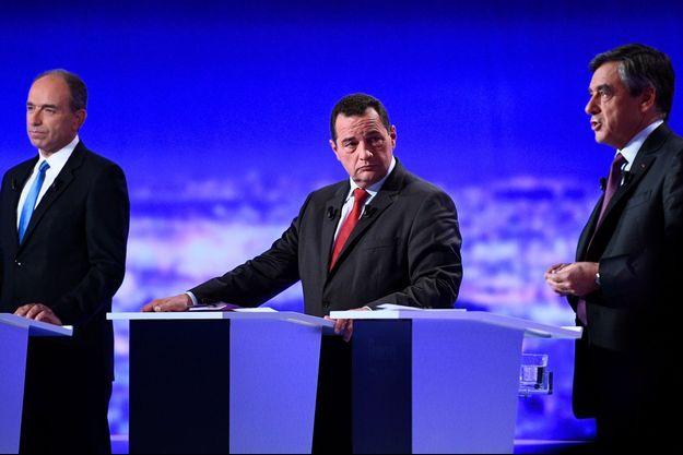 Jean-Frédéric Poisson pendant le débat sur la primaire de la droite entre Jean-François Copé et François Fillon.