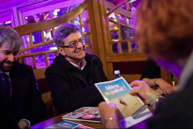 Jean-Luc Mélenchon au festival de la bande dessinée d'Angoulême, vendredi dernier.