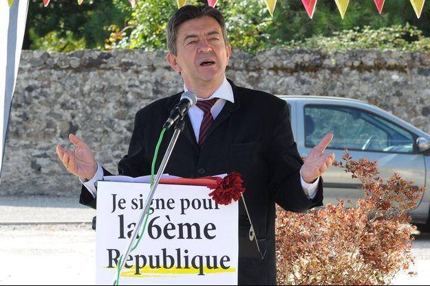 Jean-Luc Mélenchon le 4 octobre dernier à Ayzac-Ost.