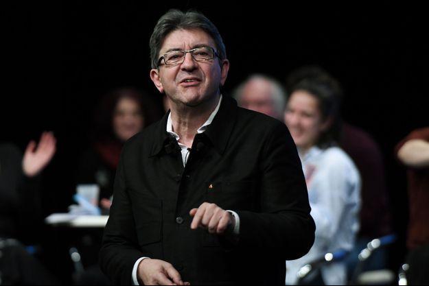 Jean-Luc Mélenchon lors d'un meeting au Mans, mercredi.