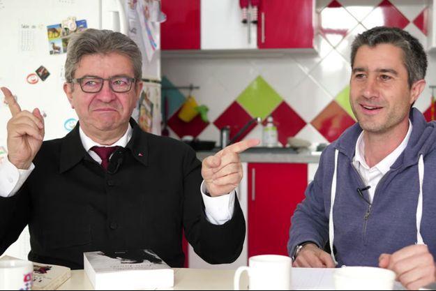 Jean-Luc Mélenchon dans la cuisine de François Ruffin.