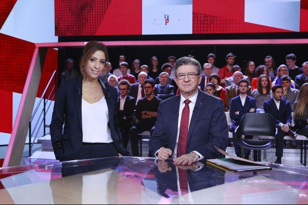 """jean-Luc Mélenchon jeudi dernier sur le plateau de """"L'Emission politique""""."""