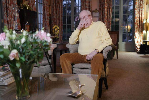 Jean-Marie Le Pen chez lui en décembre 2019.