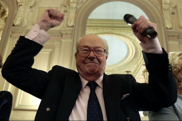Jean-Marie Le Pen à Nice en janvier 2014.