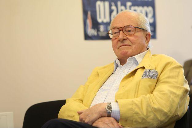 Jean-Marie Le Pen au siège du Front national, en juin 2014.