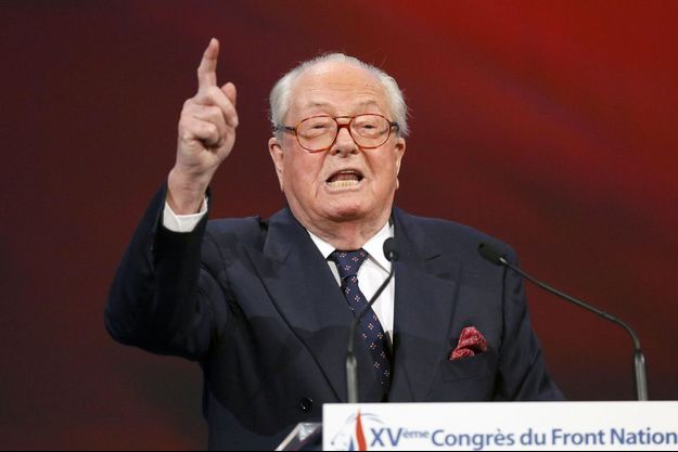 Jean-Marie Le Pen au congrès du Front National le 29 novembre 2014.