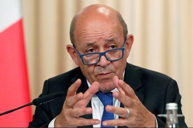 Le ministre des Affaires étrangères Jean-Yves Le Drian, ici à Moscou en septembre.