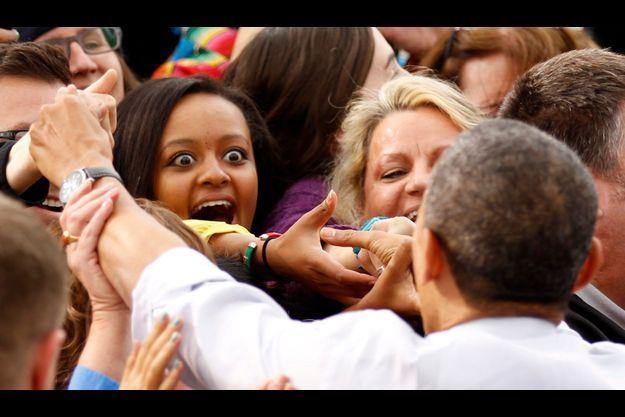De grands yeux pour accueillir Barack Obama à Denver