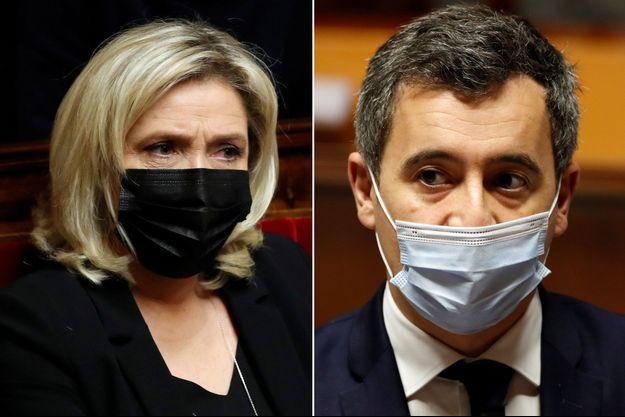 Marine Le Pen et Gérald Darmanin à l'Assemblée , fin janvier
