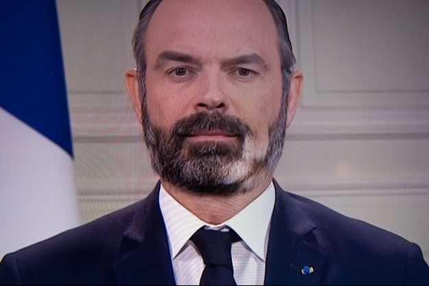 Edouard Philippe, lundi soir en duplex depuis Matignon.