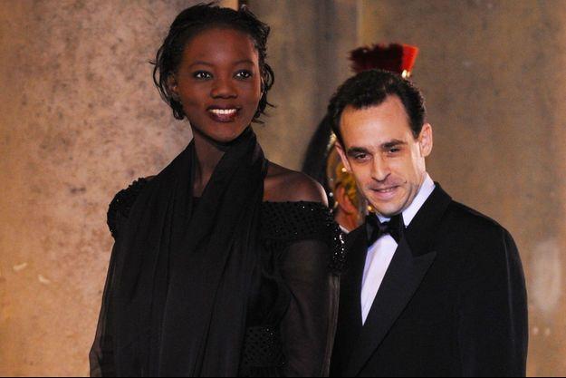Rama Yade et Joseph Zimet à l'Elysée en mars 2008.