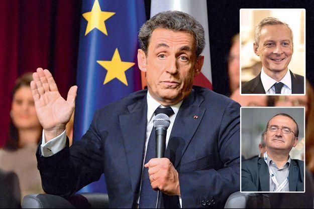 Les trois candidats à la présidence de l'UMP : Nicolas Sarkozy, Bruno Le Maire et Hervé Mariton.