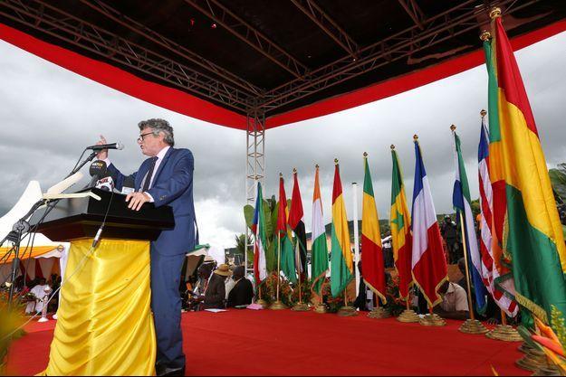 Jean-Louis Borloo a prononcé un long discours en Guinée