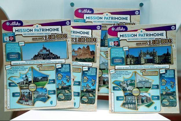 Des tickets à gratter du Loto du Patrimoine. (image d'illustration)