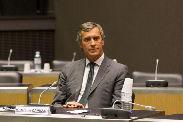 Jérôme Cahuzac devant la commission d'enquête parlementaire, mercredi, au Palais Bourbon.