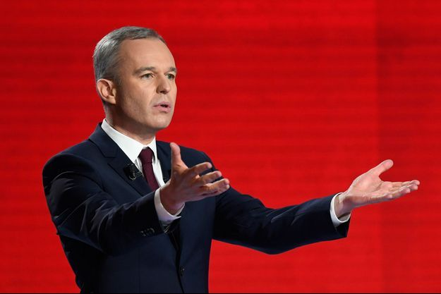 Francois de Rugy lors du deuxième débat télévisé de la primaire de la gauche, le 15 janvier.
