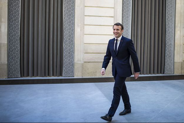 Emmanuel Macron jeudi à l'Elysée lors de ses voeux à la presse.