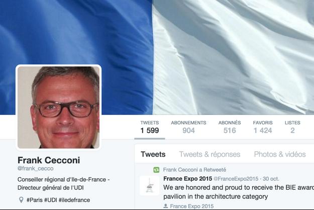 Le profil Twitter de Frank Cecconi