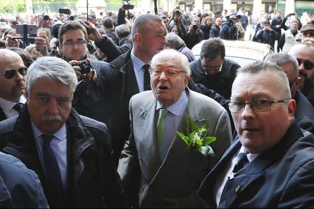 Jean-Marie Le Pen le 1er mai dernier à Paris.
