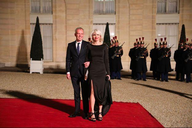 Séverine Servat de Rugy et son mari, le président de l'Assemblée nationale, François de Rugy, à l'Elysée en mars dernier.