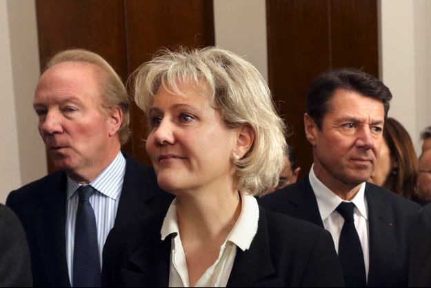 Nadine Morano devant Brice Hortefeux et Christian Estrosi