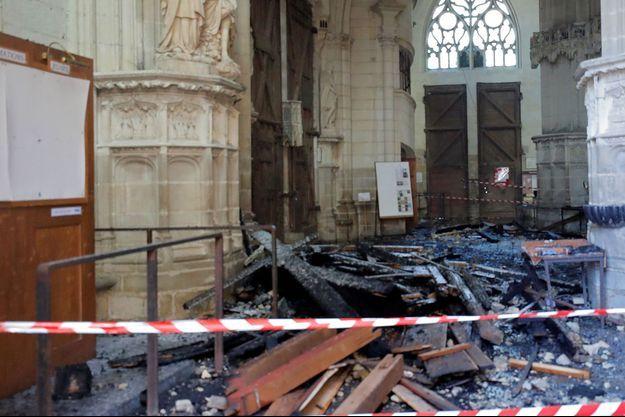 A l'intérieur de la cathédrale de Nantes.