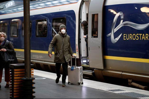 Image d'illustration.Un Eurostar gare du Nord à Paris, le 23 décembre dernier.