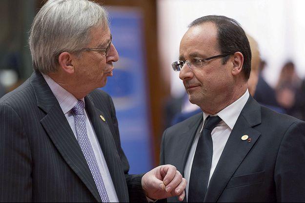 Le président de la Commission européenne, Jean-Claude Juncker, et François Hollande.