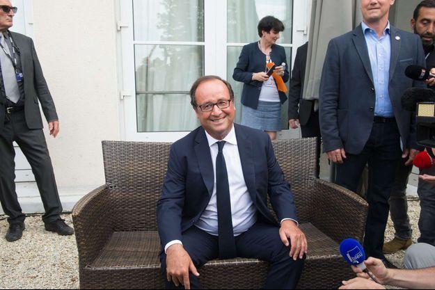François Hollande au festival d'Angoulême.
