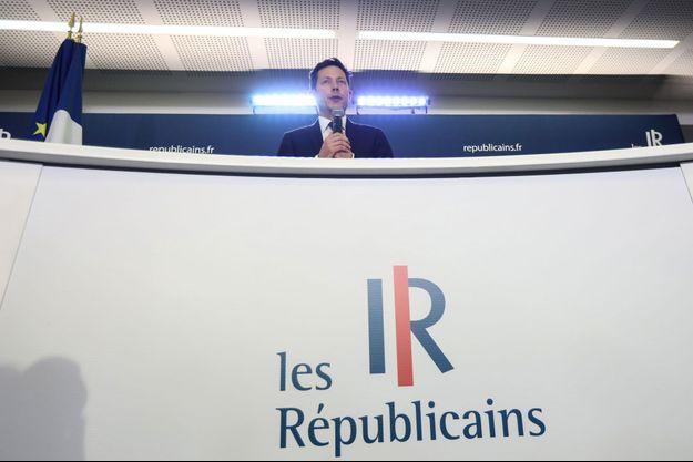 François-Xavier Bellamy lors de la soirée électorale du 26 mai 2019.
