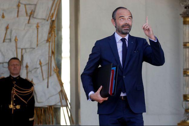 Edouard Philippe à l'Elysée mercredi après le Conseil des ministres.