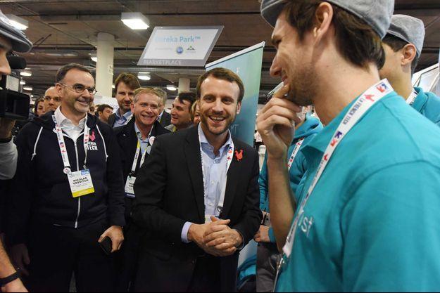 Emmanuel Macron, au CES de Las Vegas en 2016.