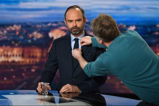 Edouard Philippe lundi soir sur le plateau du 20 heures de TF1.