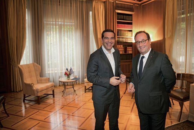 Le 16 novembre, avec Alexis Tsipras, ils prennent la pose pour Paris Match au palais Maximos.