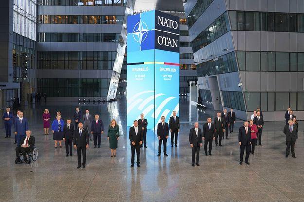 Réunion des chefs d'Etats et de gouvernements de l'Otan, le 14 juin dernier à Bruxelles.